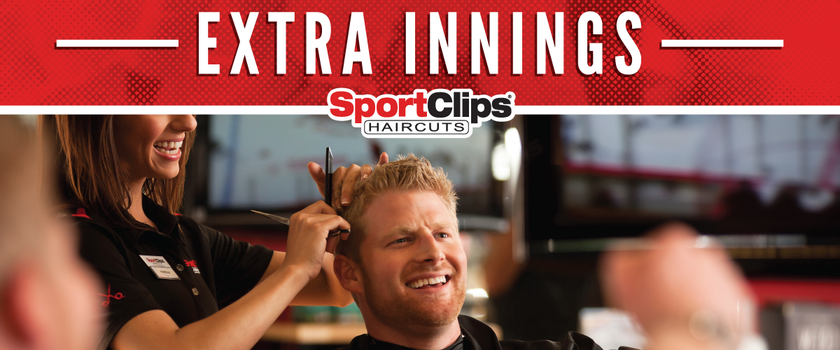 The Sport Clips Haircuts of New Market Square Extra Innings Offerings